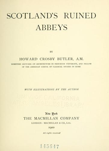 Download Scotland's ruined abbeys
