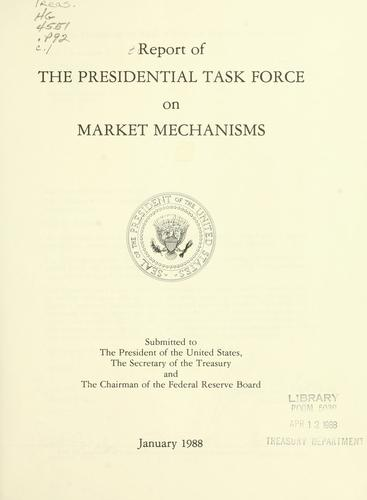 Download Report of the Presidential Task Force on Market Mechanisms