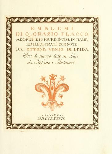 Download Emblemi di Q. Orazio Flacco