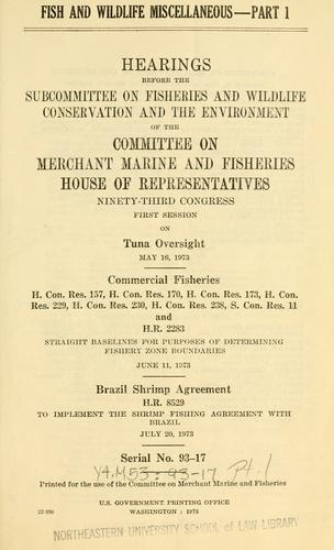 Download Fish and wildlife miscellaneous.