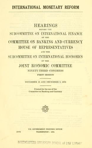 Download International monetary reform.