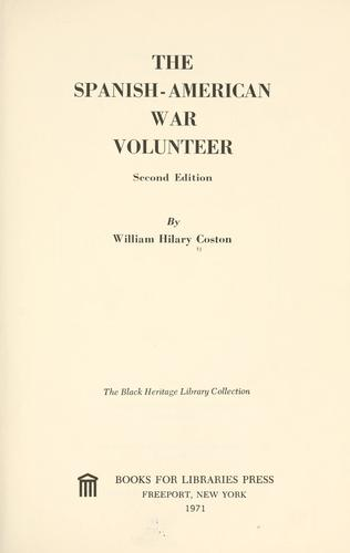 Download The Spanish-American War volunteer.