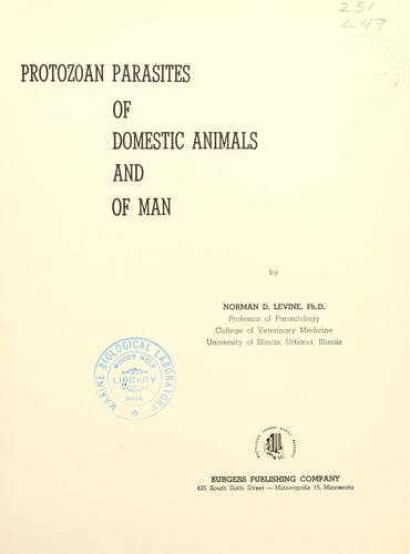 Download Protozoan parasites of domestic animals and of man.