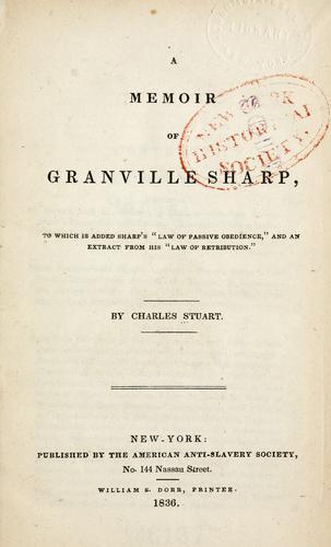 Download A memoir of Granville Sharp