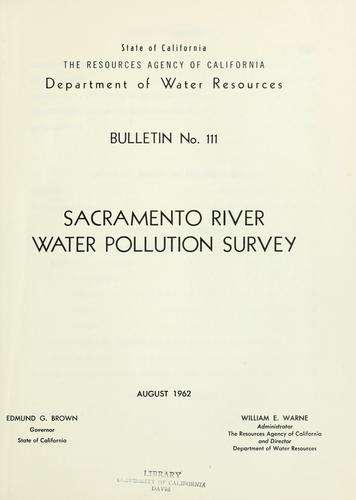 Download Sacramento River water pollution survey.