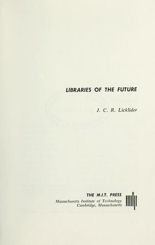 Download Libraries of the future