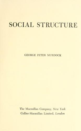 Download Social structure.