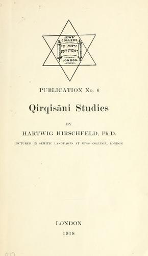 Qirqisāni studies