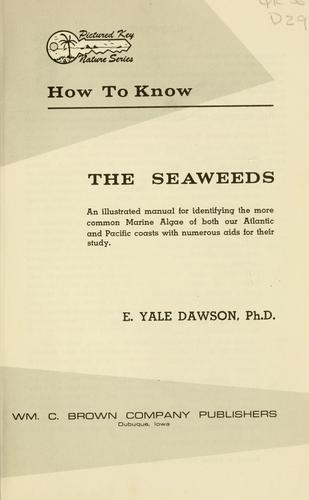 Download How to know the seaweeds