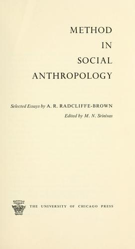 Download Method in social anthropology