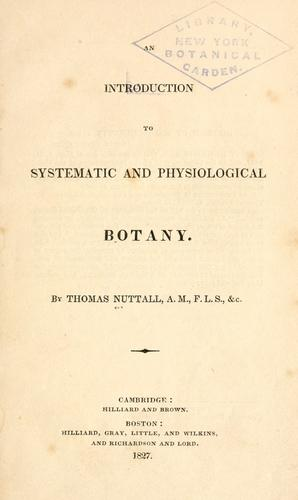 Download An introduction to systematic and physiological botany