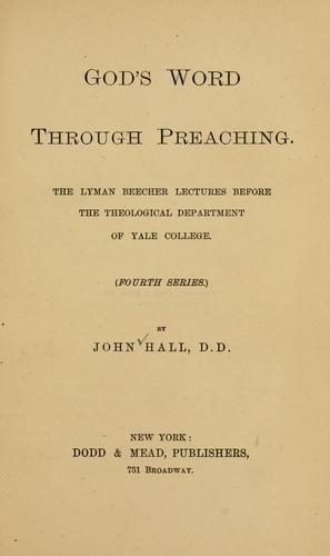 God's word through preaching