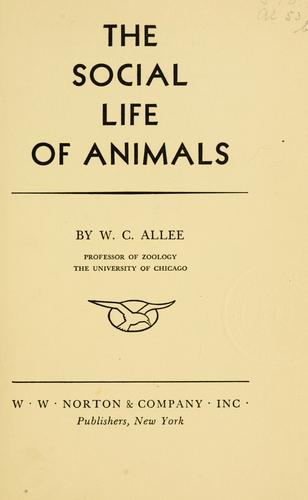 The social life of animals.