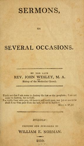 Sermons on several occasions by John Wesley