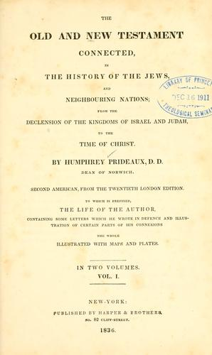 The Old and New Testament connected, in the history of the Jews and neighbouring nations