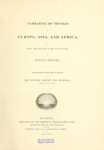 Narrative of travels in Europe, Asia, and Africa, in the seventeenth century