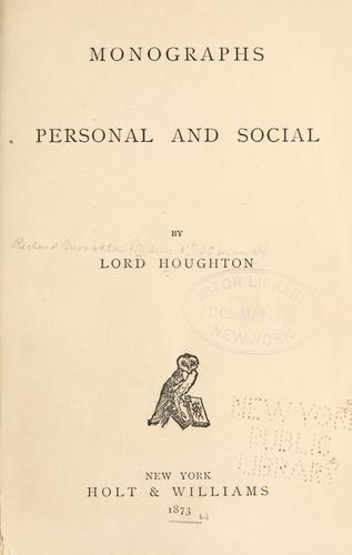 Download Monographs personal and social
