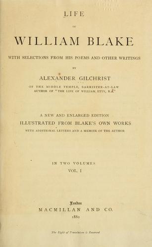 Download Life of William Blake