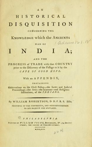 Download An historical disquisition concerning the knowledge which the ancients had of India