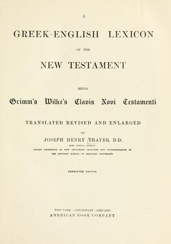 Download A Greek-English lexicon of the New Testament
