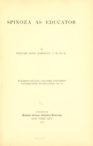 Download Spinoza as educator