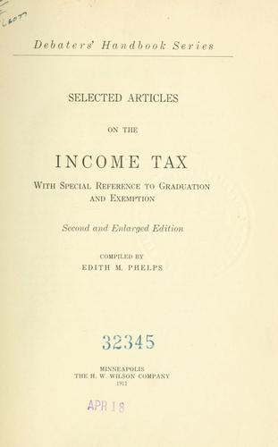 Selected articles on the income tax
