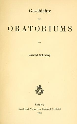 Download Geschichte des Oratoriums
