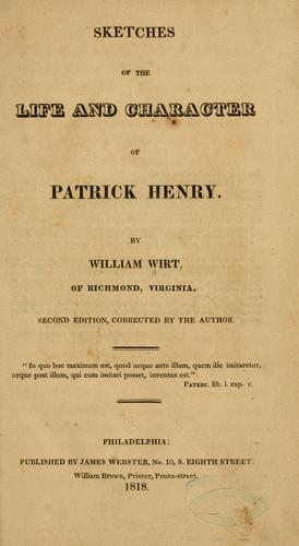 Download Sketches of the life and character of Patrick Henry