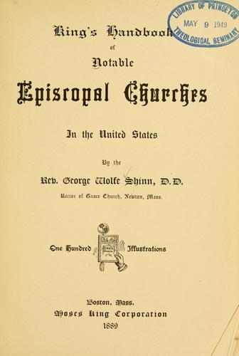 King's handbook of notable Episcopal churches in the United States