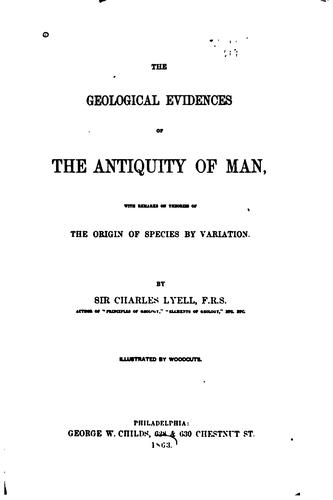 Download The geological evidence of the antiquity of man