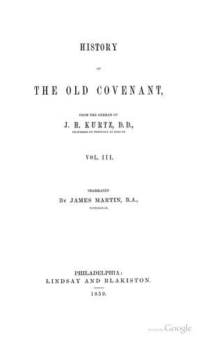 Download History of the Old Covenant