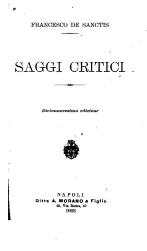 Download Saggi critici.