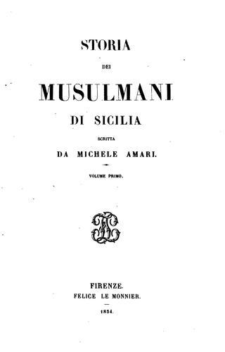 Storia dei Musulmani di Sicilia.