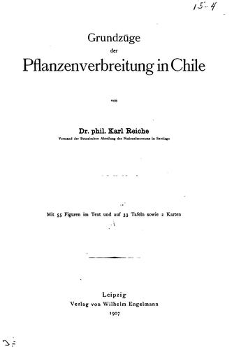 Download Grundzüge der Pflanzenverbreitung in Chile