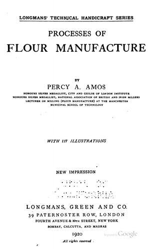 Processes of flour manufacture