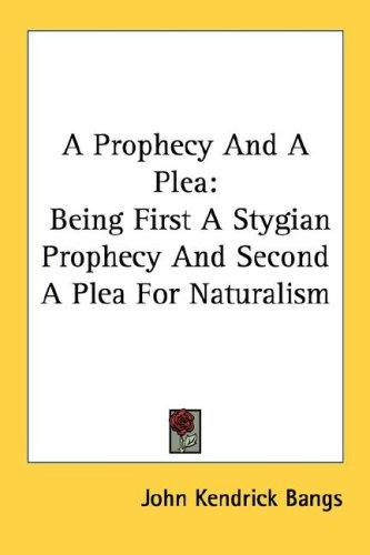 A Prophecy And A Plea