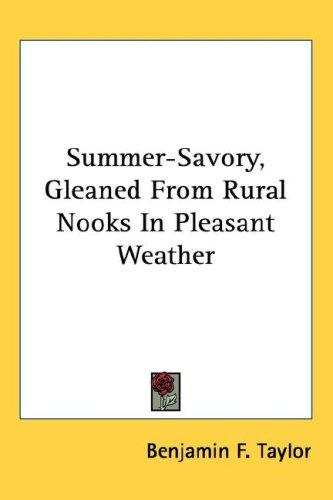 Summer-Savory, Gleaned From Rural Nooks In Pleasant Weather