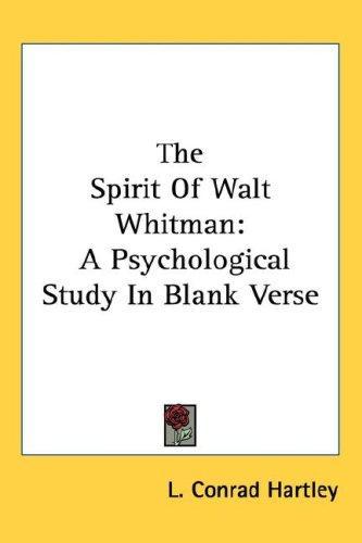 The Spirit Of Walt Whitman