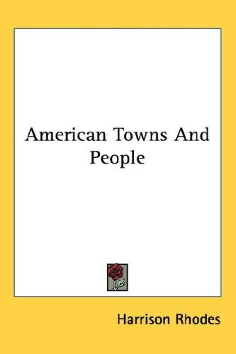 American Towns And People