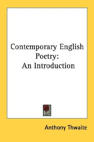 Contemporary English Poetry