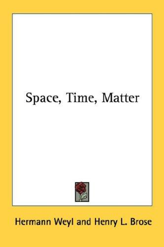 Download Space, Time, Matter