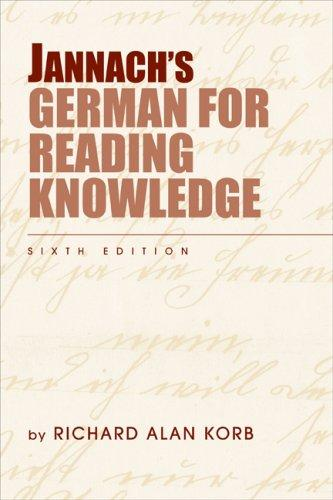 Download Jannach's German for Reading Knowledge