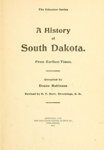 A history of South Dakota.
