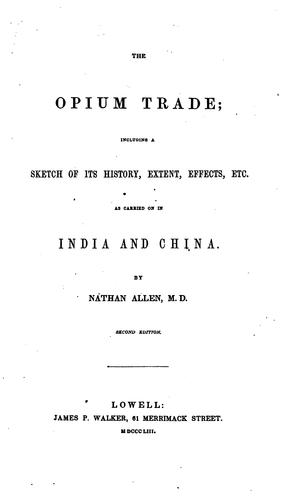 Download The opium trade