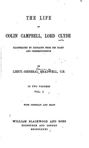 Download The life of Colin Campbell, Lord Clyde.
