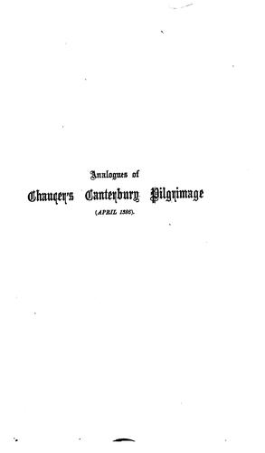 Download Analogues of Chaucer's Canterbury pilgrimage (April 1386)