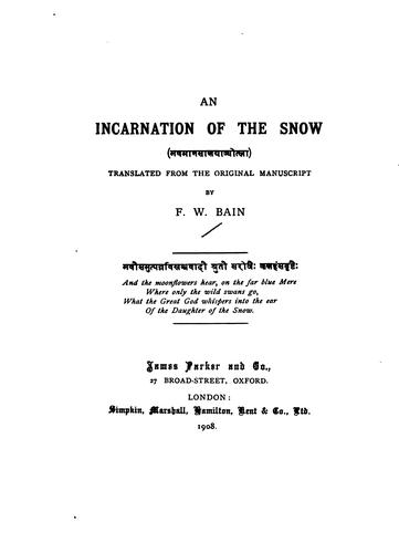 An incarnation of the snow …