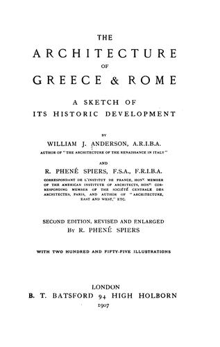 Download The architecture of Greece & Rome