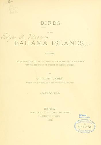 Download Birds of the Bahama islands