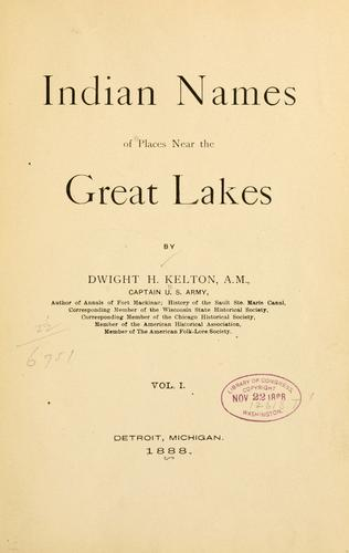 Download Indian names of places near the Great Lakes